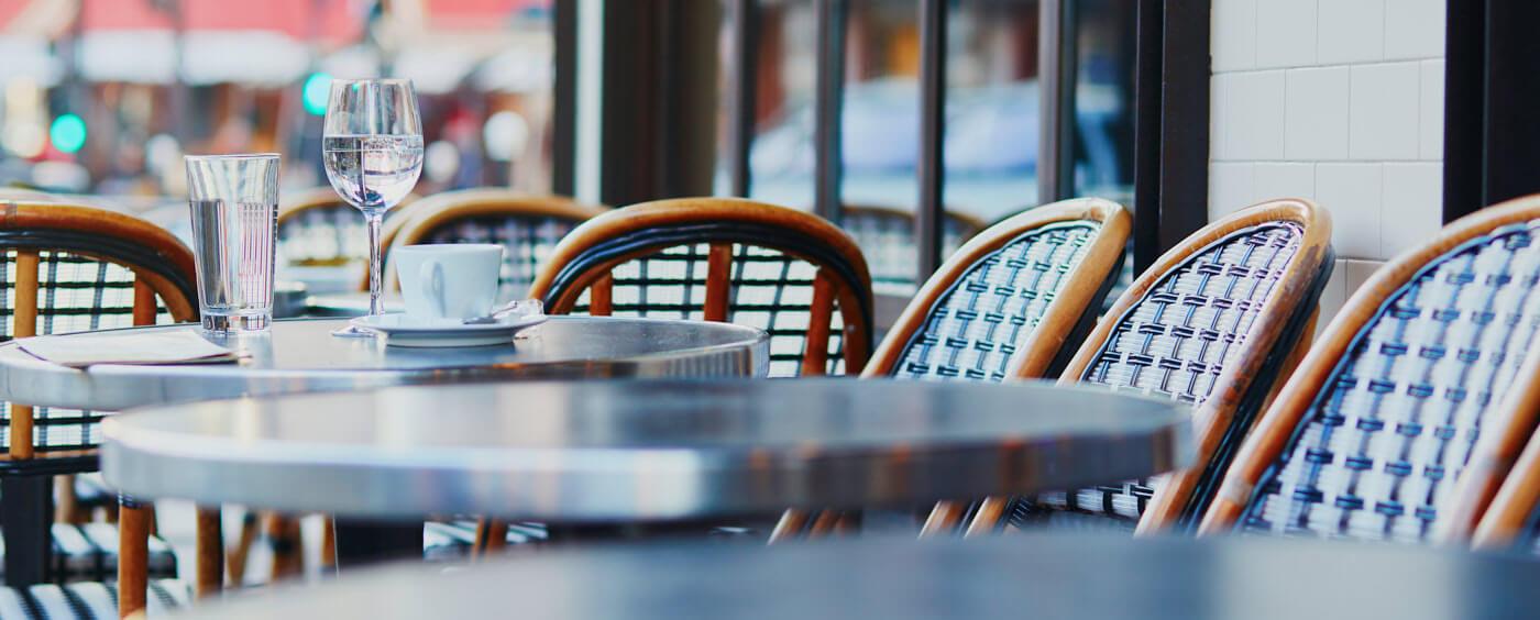předzahrádka u restaurace