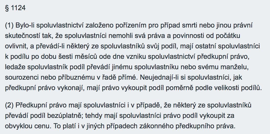 Text paragrafu 1124